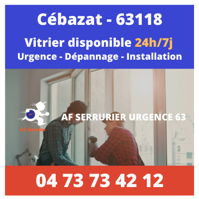 Contact pour faire appel à un Vitrier sur Cébazat